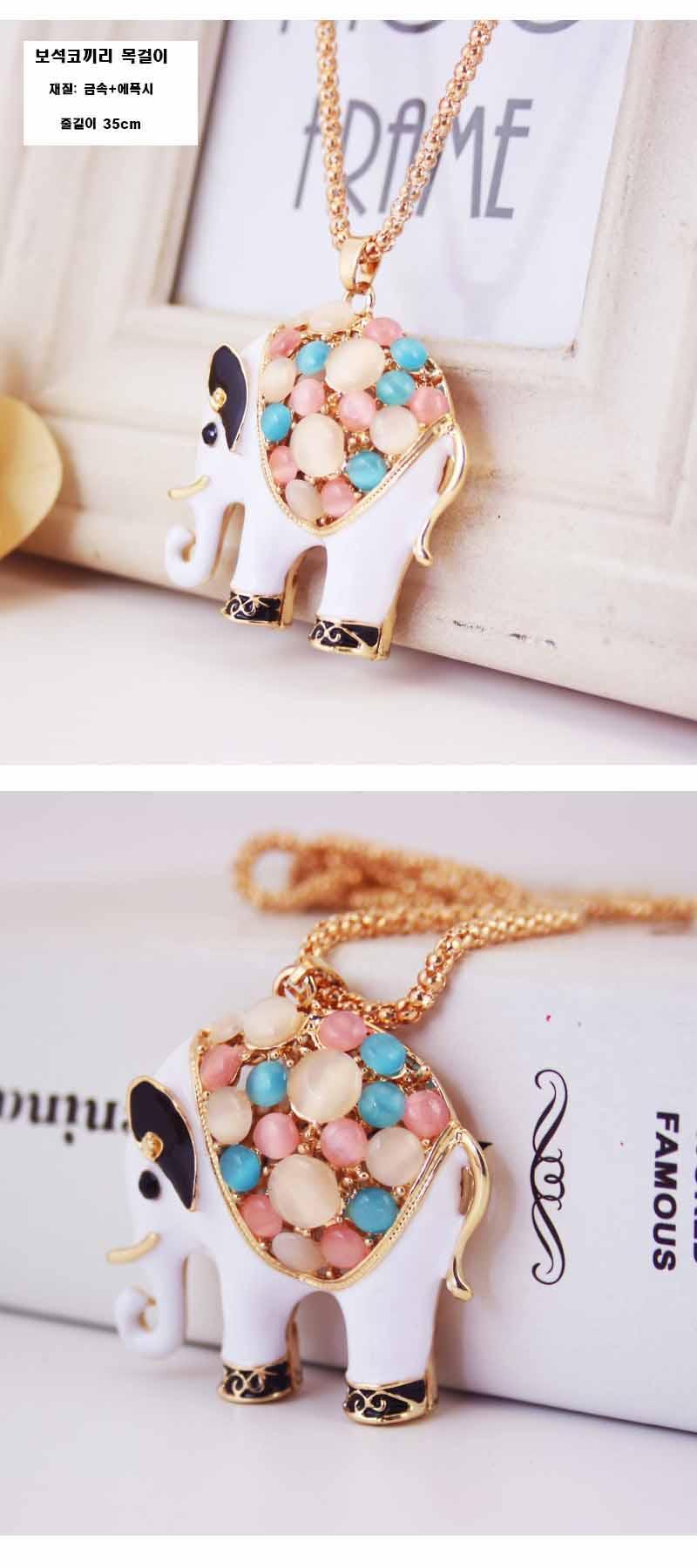 코뿔소 목걸이 - 디아이와이데코, 12,000원, 패션, 패션목걸이